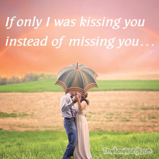 Long distance love message for him