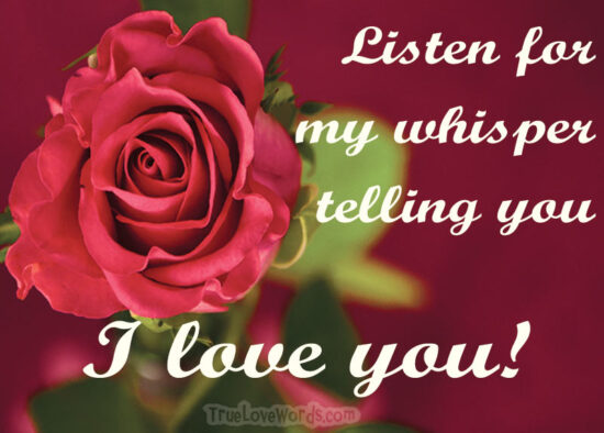 long distance I Love you message for her