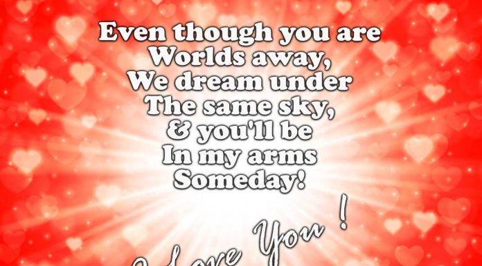 Lond distance love messages for her