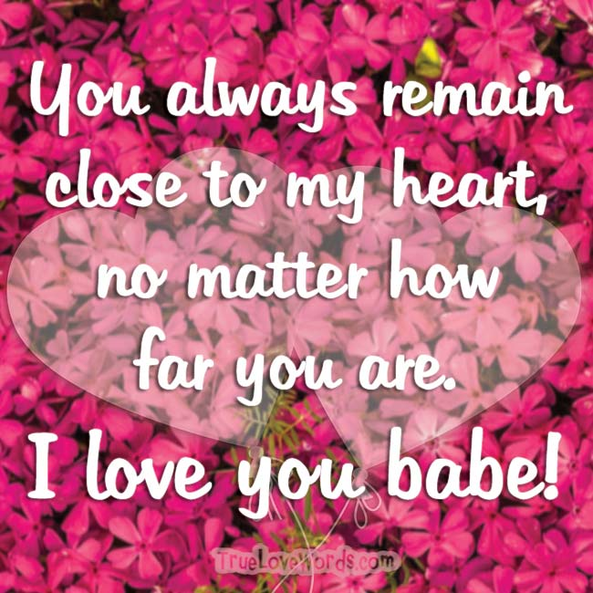 i love you babe message