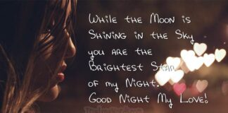 Good night my Love - good night messages for him