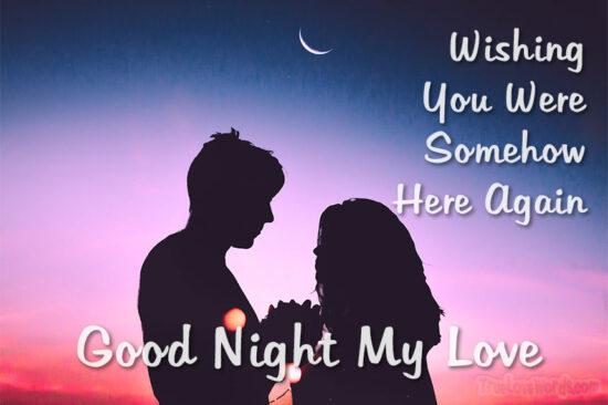 Wishing You Were Somehow Here Again Good Night My Love