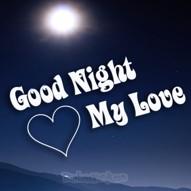 Sweet Good Night Love Messages For Her True Love Words