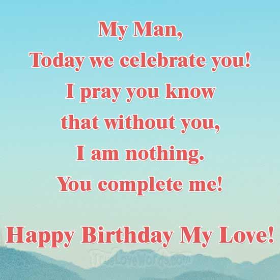 You complete me - Happy birthay love