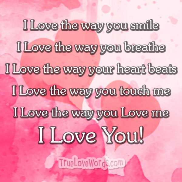 Sweet words for you lover
