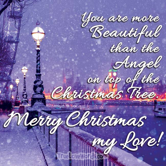Merry Christmas wishes for her - To you my Love
