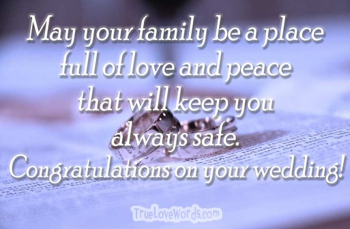 Wedding wishes - Congratulations on your wedding