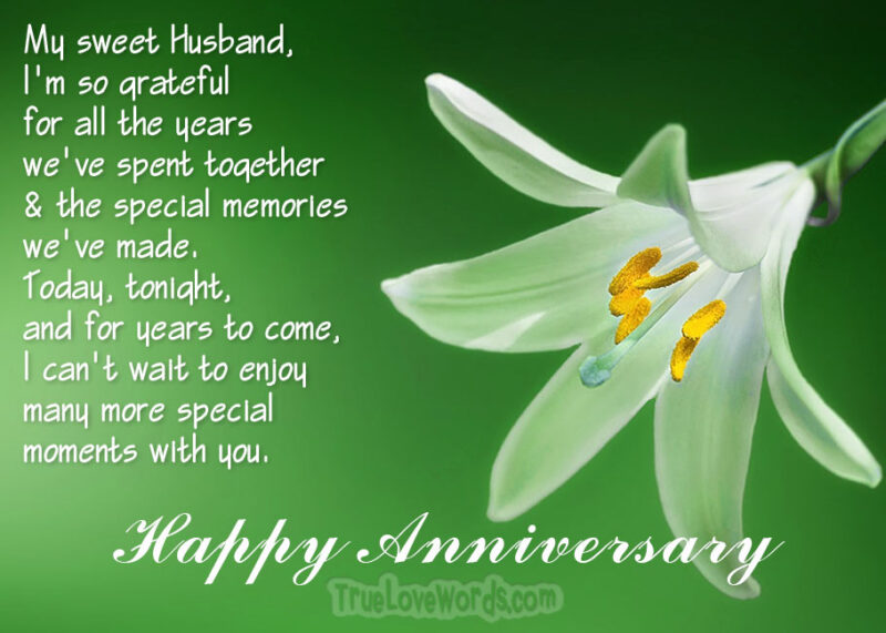 Happy Anniversary my Husband