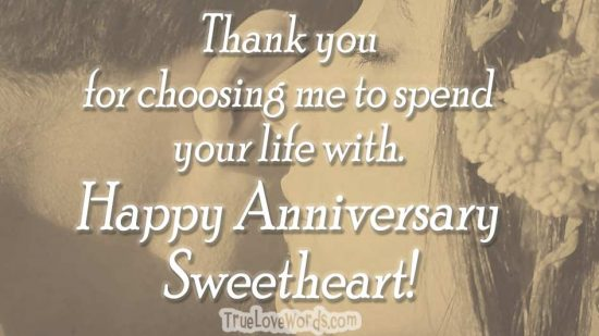 Happy wedding anniversary for husband