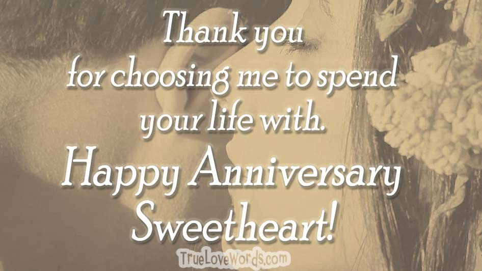 Happy wedding anniversary for husband