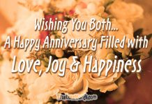 Happy anniversary wishes for a couple