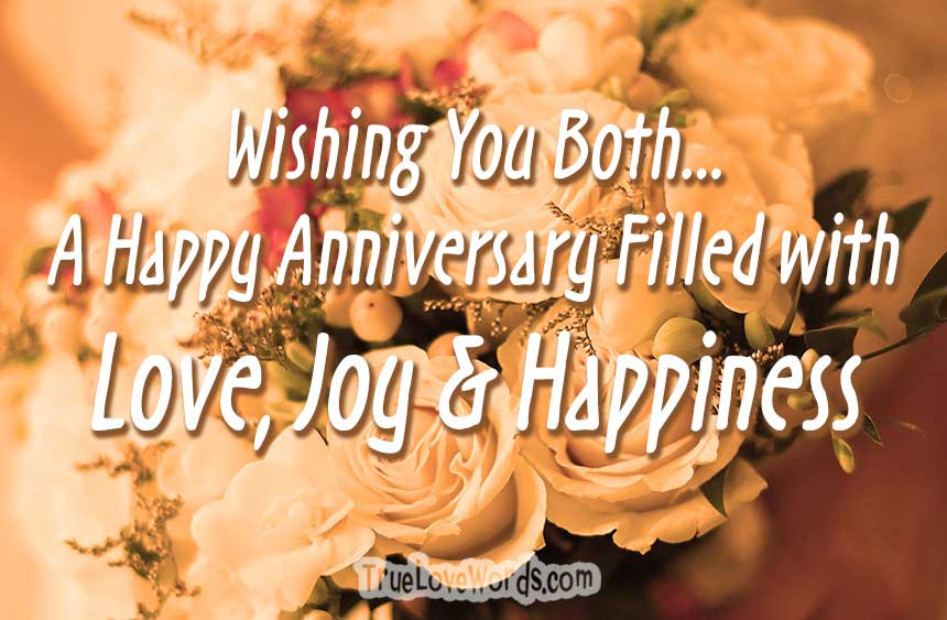 Wedding Anniversary Wishes For A Couple True Love Words