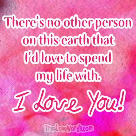 No other person - I Love You so Much