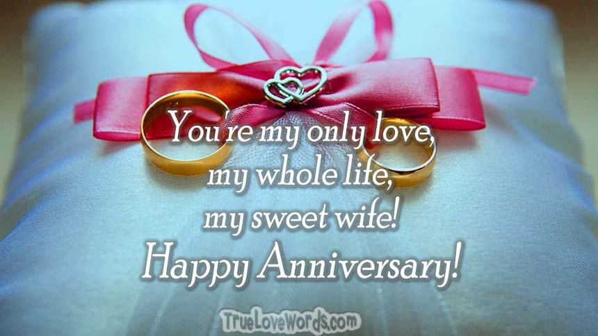 Romantic wedding anniversary wishes for wife true love words wedding anniversary wishes for wife m4hsunfo