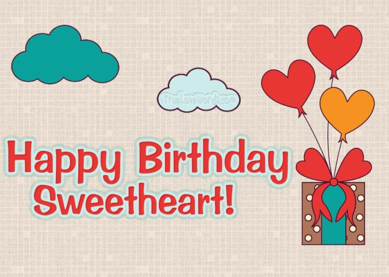 Happy Birthday Sweetheart - Birthday wishes for boyfriend