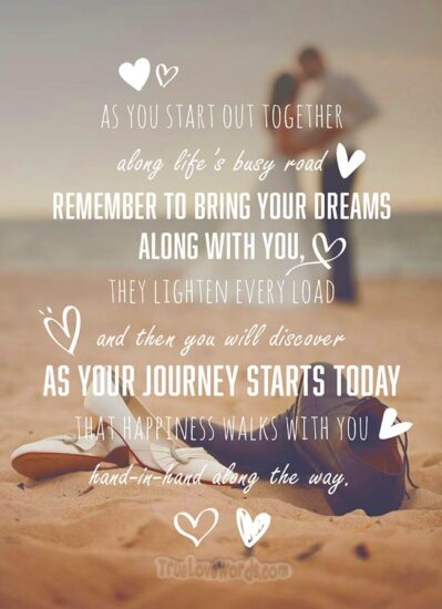 Your journey starts today on your engagement