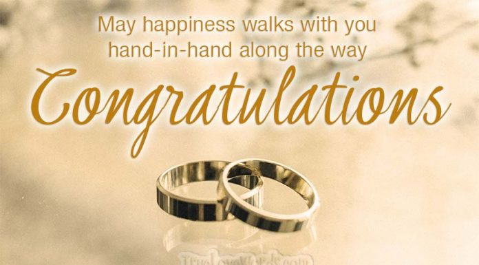 May happiness walk with you along the way - Engagement wishes and congratulations