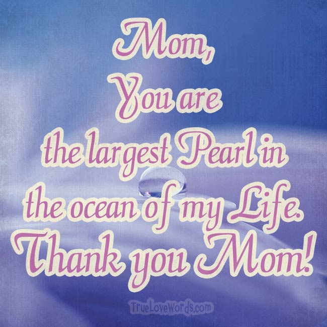 Thank you Mom - Happy Mother's Day Wishes