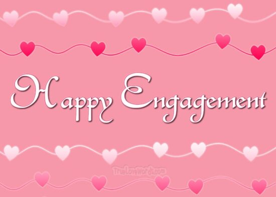 Happy engagement wishes