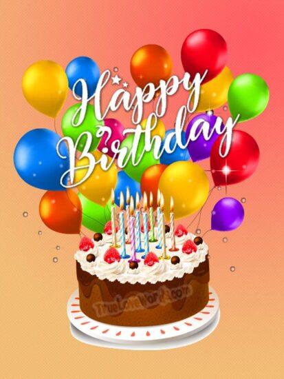 Happy Birthday Cake For Friends