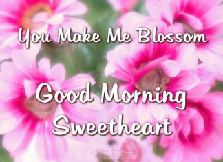 You make me blossom - good morning sweetheart
