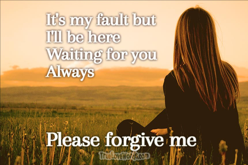 Please forgive me baby - Sorry messages