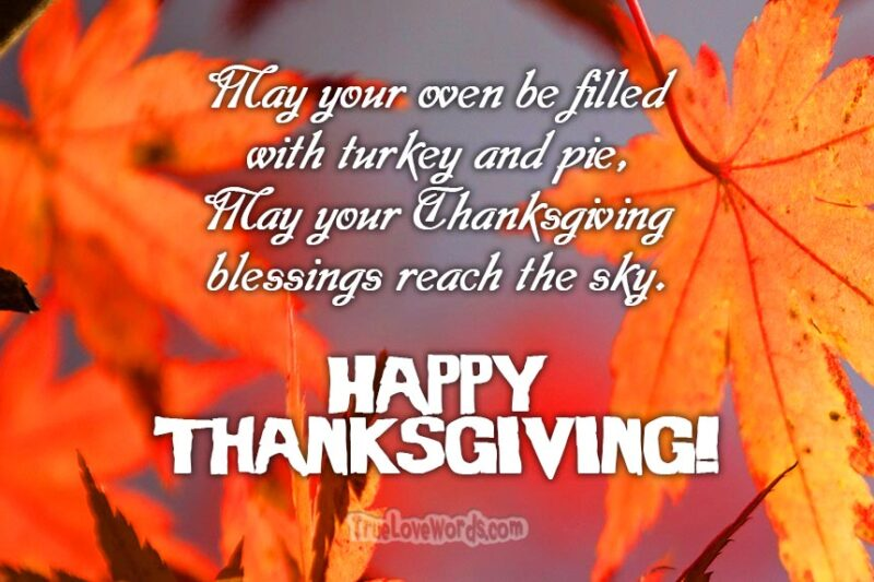 Happy Thanksgiving wishes and blessings