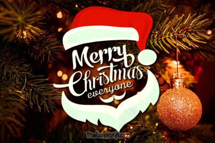 Merry Christmas Everyone >> The Sweetest Christmas Wishes For Family