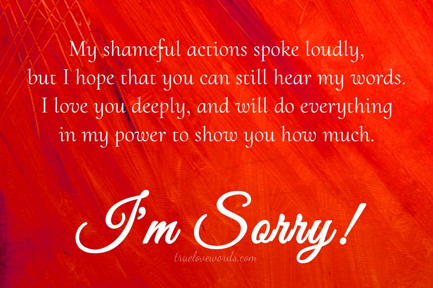my shameful actions im sorry messages for girlfriend