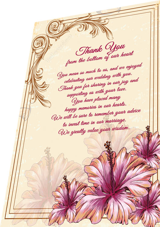 Wedding Thank You Card Wording Tips - From the bottom of our hearts