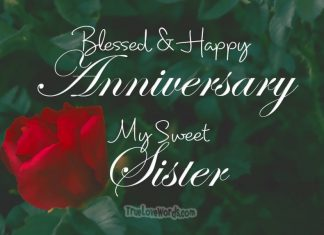 Blessed and Happy Aniversary my sweet Sister