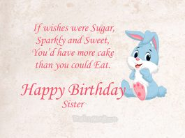 Happy Birthday wish to sister