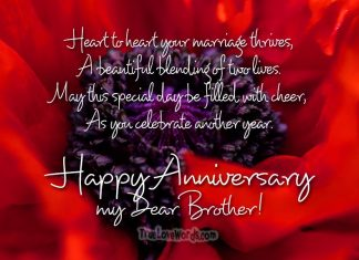 Happy anniversary wishes for Brother