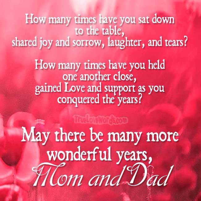 30 Sweet Wedding Anniversary Wishes For Mom And Dad True Love Words