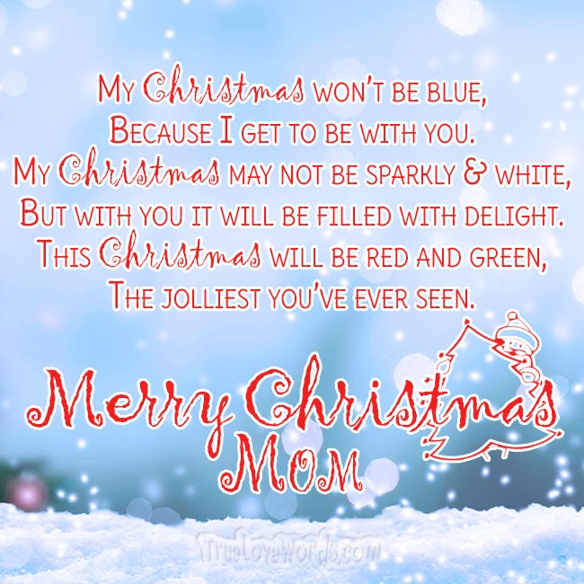 Merry Christmas wishes for mom