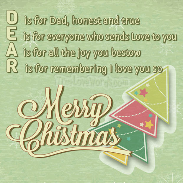 Merry Christmas wishes for Dad!
