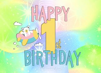 Happy 1st birthday wishes card