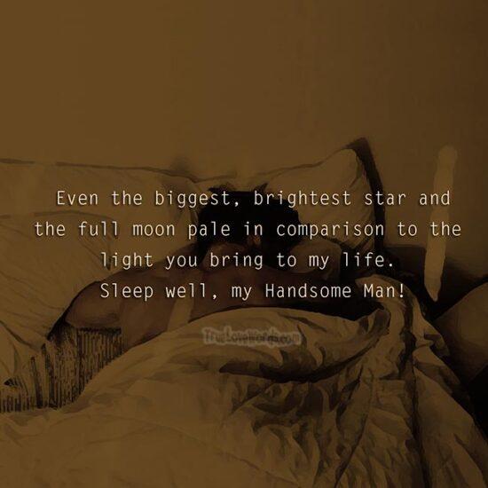Good night handsome man
