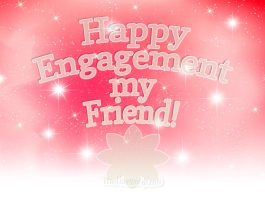 Happy engagement wisges for best friend