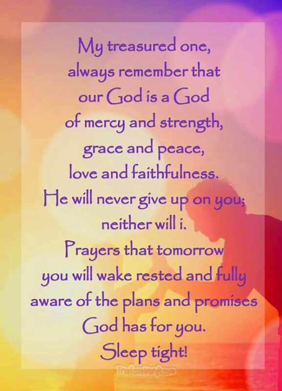 Our God is a God of mercy and strength - Good night prayer