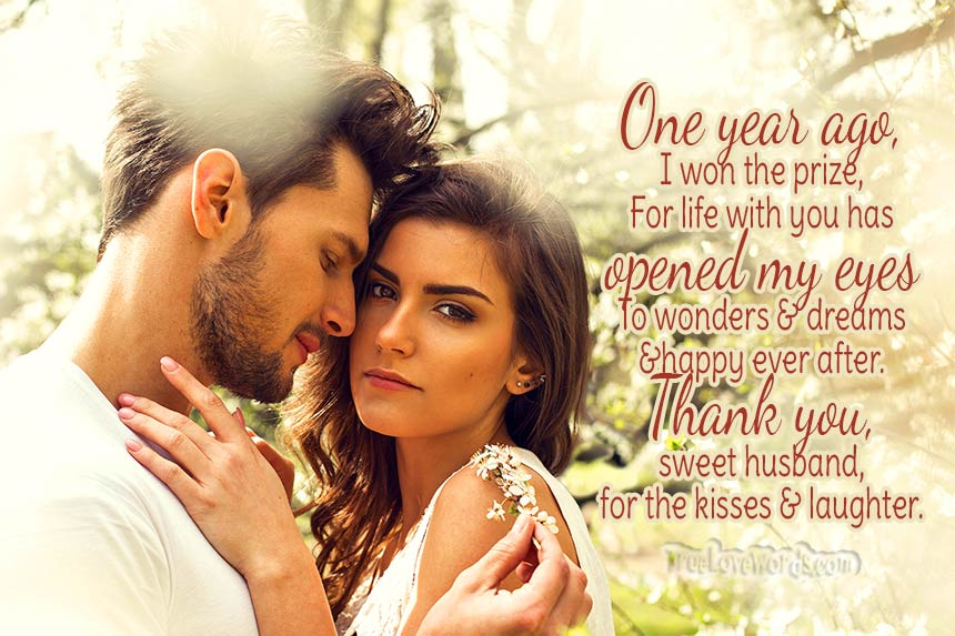 1st Wedding Anniversary Wishes For Your Husband True Love Words