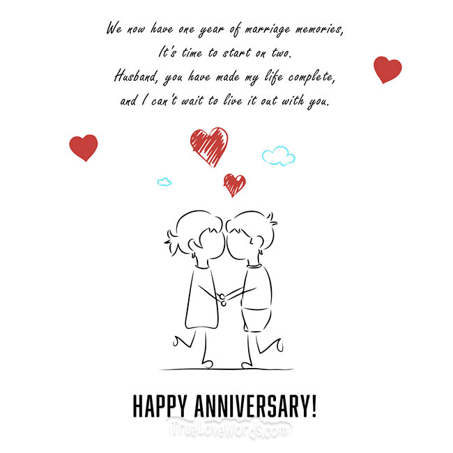 Anniversary year about quotes one 1 Year