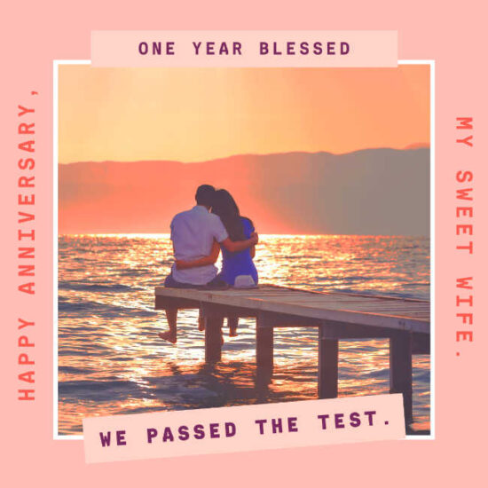 Happy 1st anniversary wishes