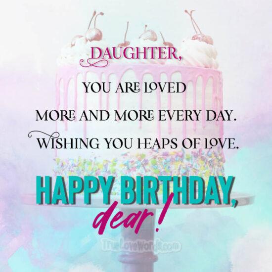 To my daughter's birthday