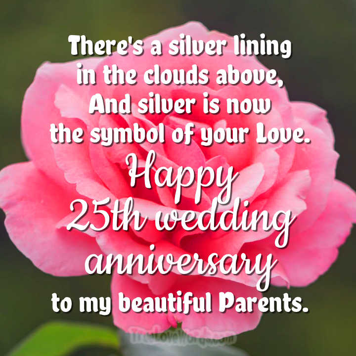 25th Wedding Anniversary Wishes For Parents The Silver Jubilee Wishes