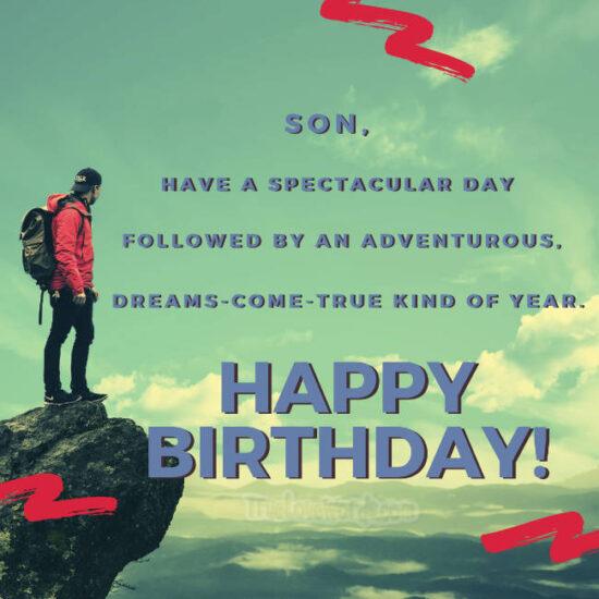 adventurous happy birthday son