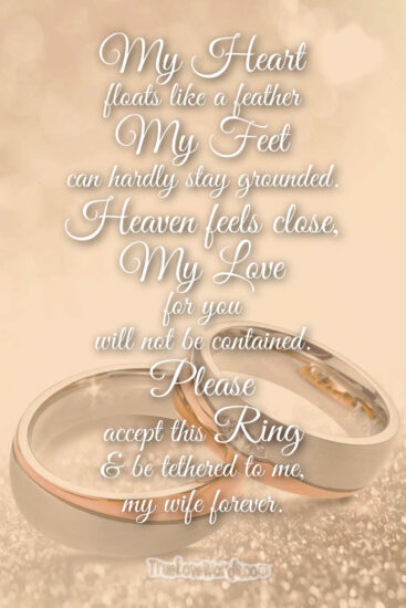 please accept this ring - Wedding proposals messages for her