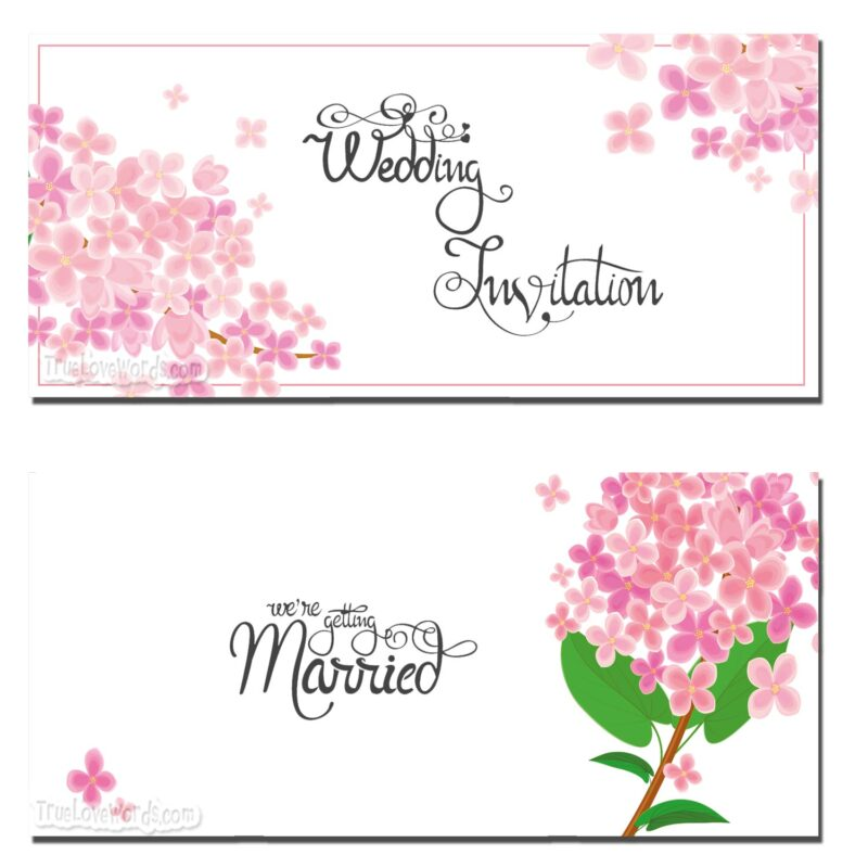 Wedding invitation messages template