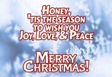 Merry Christmas wishes for Husband - Merry Christmas honey