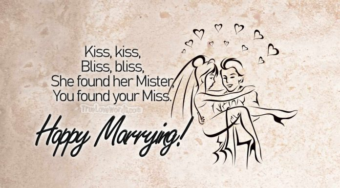 Funny Wedding Wishes - Happy marrying!